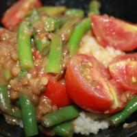 Sajoer boontjes met couscous
