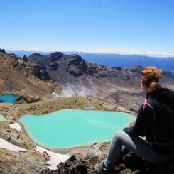 Uitzicht bij de Tongariro Crossing