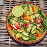 Oosterse vegetarische salade