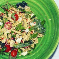 Pasta salade met kip en gorgonzola