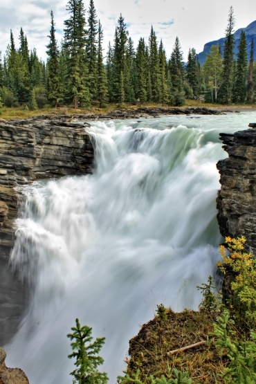 Athabasca Falls waterval