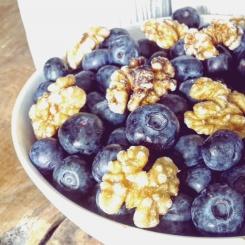 Wat eten we vandaag - blauwe bessen en walnoten