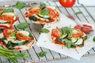 Vegetarische mini pizza's - Healthylivinglisan