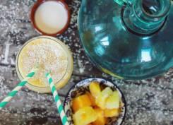 Wat eten we vandaag fruitsmoothie met amandelmelk - Healthylivinglisan