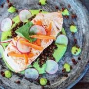 Wat eten we vandaag Zalm met tuinerwtenpuree - Healthylivinglisan