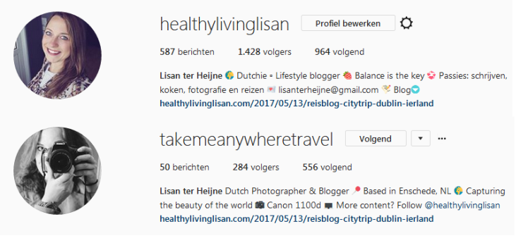 Instagram accounts Healthylivinglisan
