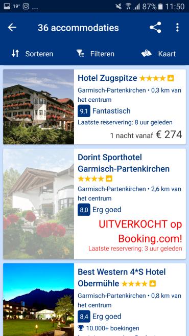 Booking.com app overnachting opties - Healthylivinglisan