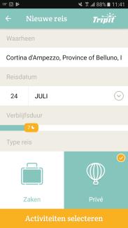 Packpoint app hoofdscherm - Healthylivinglisan