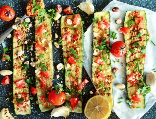Recept gegrilde courgette