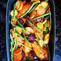 Kip met ovengroenten